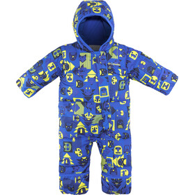 Columbia Snuggly Bunny Bunting Suit Børn, super blue critter/super blue